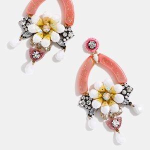 J crew floral earrings